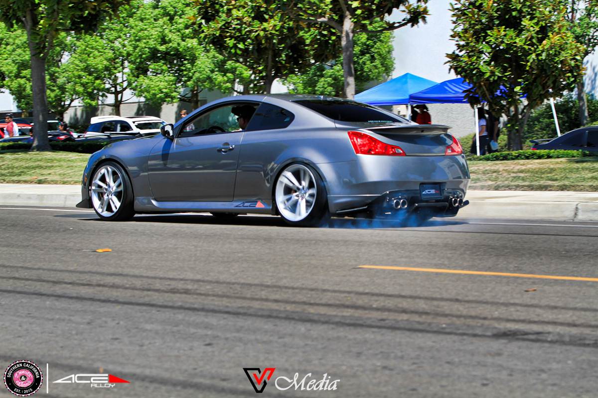 Donuts & Wheels 2015-Infiniti G37 Coupe SCORPIO C902 Metallic silver Machined Face