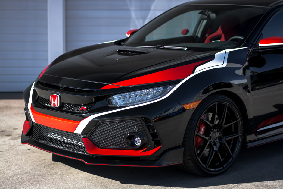 2018 Honda Civic Type R w/ AFF02 20 Custom- Gloss Black ACE