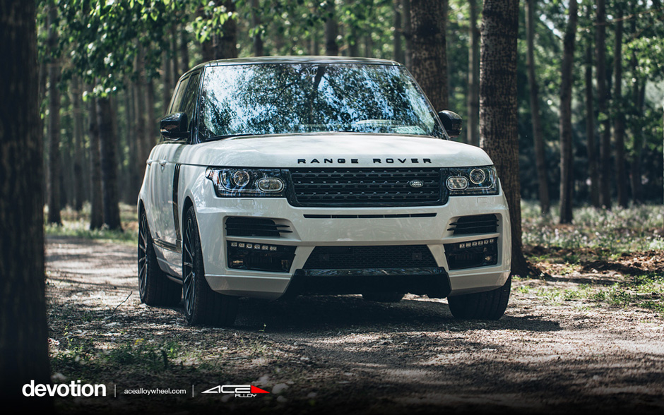 "DEVOTION D718 | 20"" Land Rover Range Rover Mica Gray Machine"