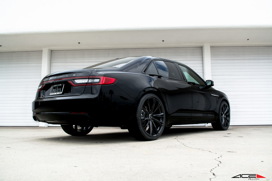 "ACE 22"" Aspire Gloss Black Custom Lincoln Continental Sedan Aftermarket Wheels"