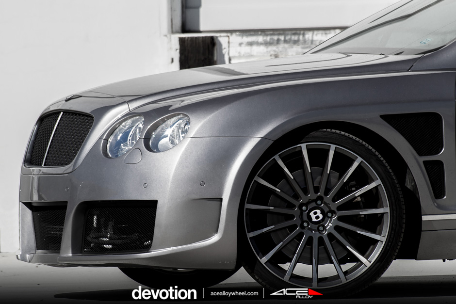 "Devotion D718 22"" Wheel Bentley Continental GTC Mica Gray Machined Face"