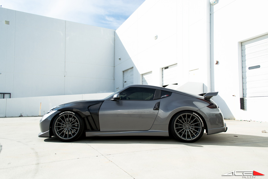 "ACE 20"" Devotion D718 Titanium Nissan 370z Aftermarket Wheels"