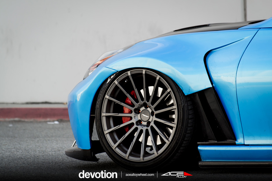 "ACE 20"" Devotion D718 Titanium Nissan 370z Bagged Aftermarket Wheels"