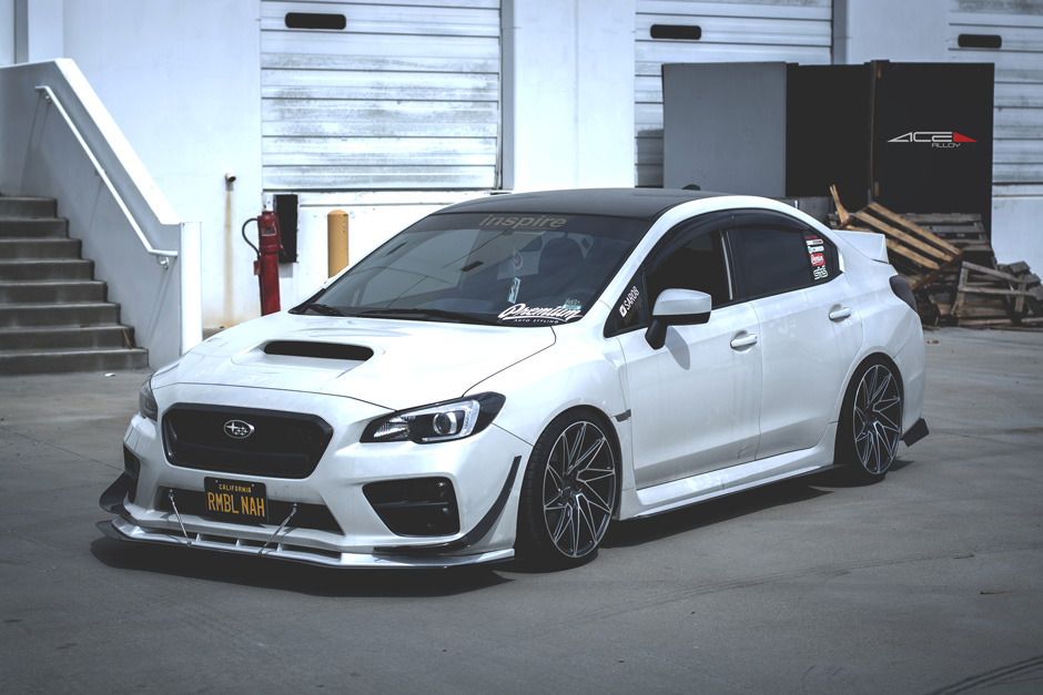 "ACE 19"" Driven D716 Matte Mica Gray w/ Machined Face 2015 Subaru WRX Aftermarket Wheels"
