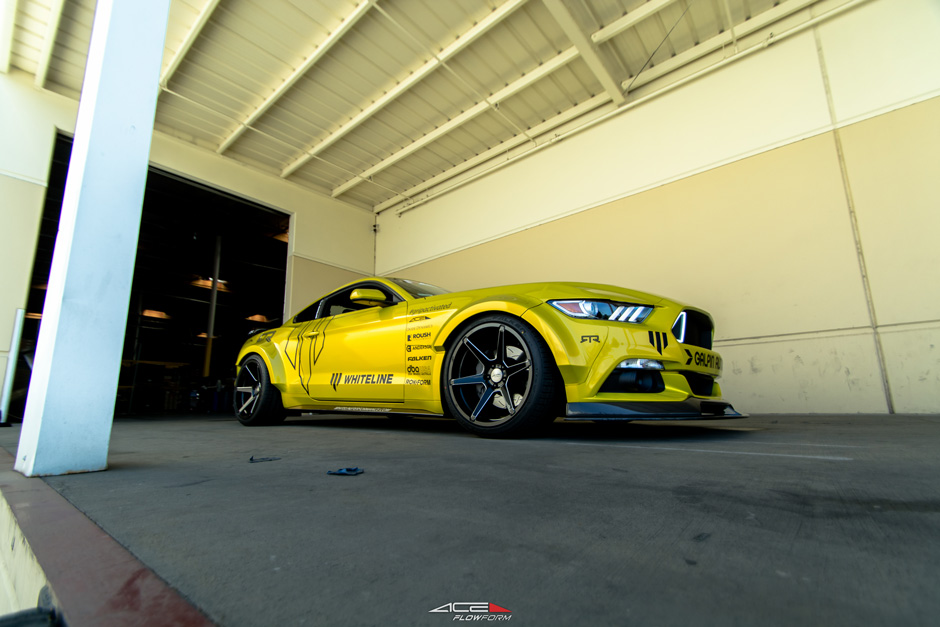 Widebody Whiteline Ford s550 Mustang 5.0 20x11 Ace Flowform Rotary Forged Custom Aftermarket Wheels