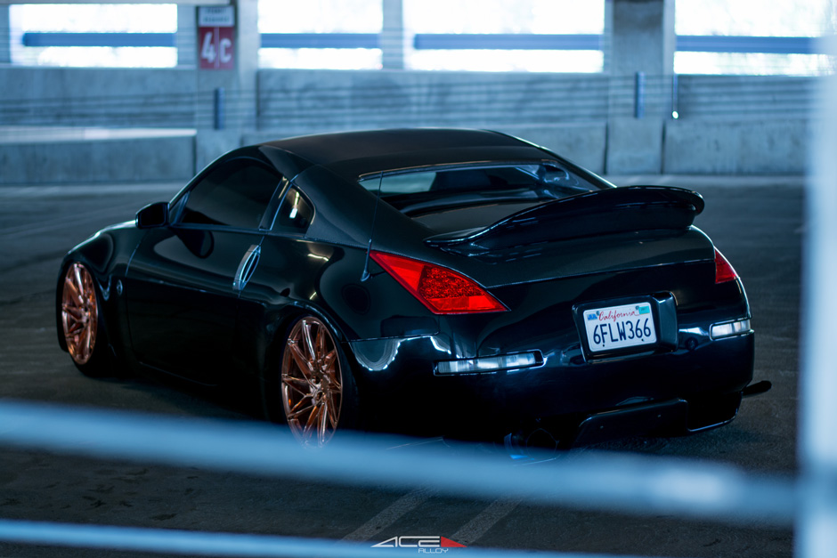 "ACE 19"" Driven D716 Custom Copper Plated Nissan 350z Bagged Aftermarket Wheels"