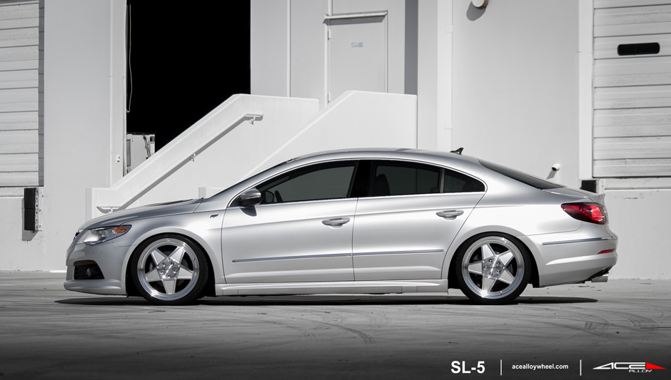 "SL-5 C917 19"" Wheel VW Passat Metallic Silver Machined Face and Lip"