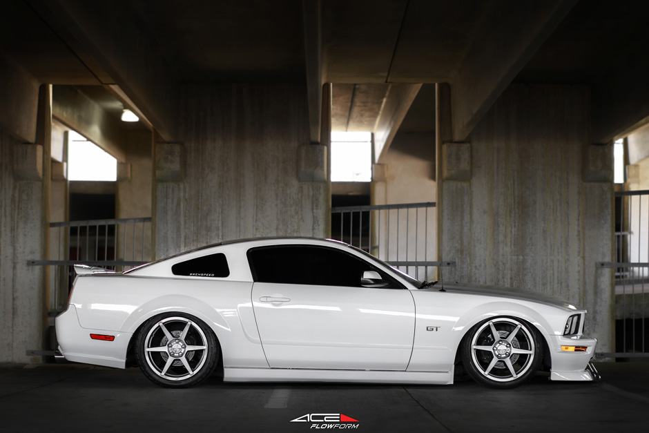 ACE Flowform AFF06 Liquor Silver Ford Mustang GT 19 inch Aftermarket Wheels