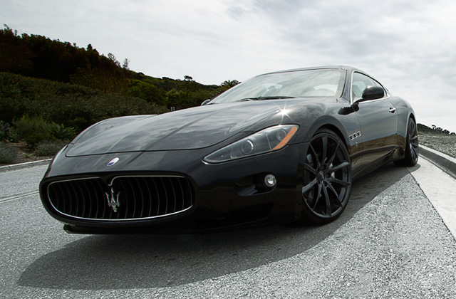 "22"" wheel Gloss Black Convex D704 Maserati Granturismo avail. 22x9.0 / 22x10.5"