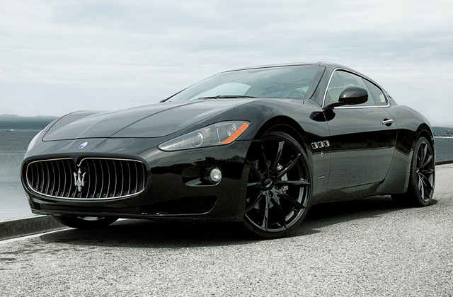 "22"" wheel Gloss Black Convex D704 Maserati Granturismo"