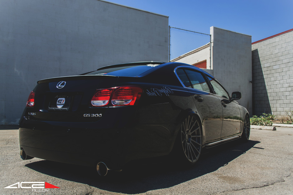 "ACE 20"" Devotion D718 Titanium Lexus GS350 Aftermarket Wheels"