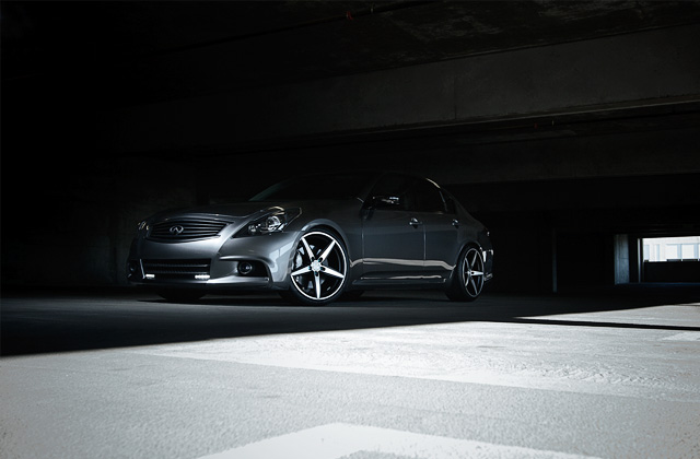 "20"" wheel Matte Black Couture Infiniti G37 Sedan avail. silver"