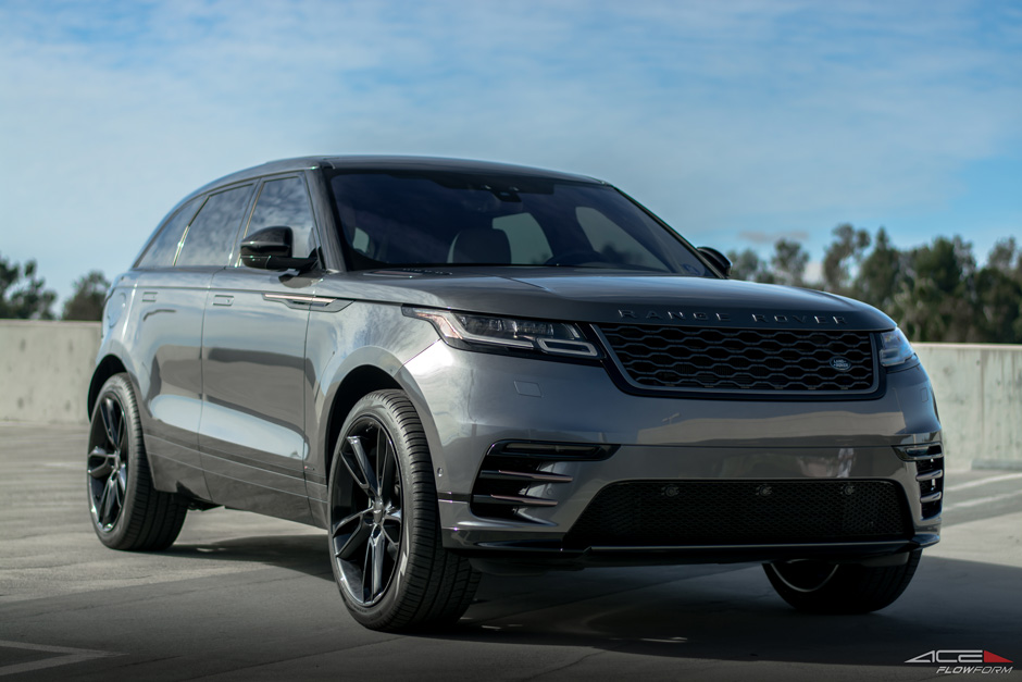 "2018 Land Rover Range Rover Velar on ACE 22"" Scorpio Gloss Black Aftermarket Wheels"