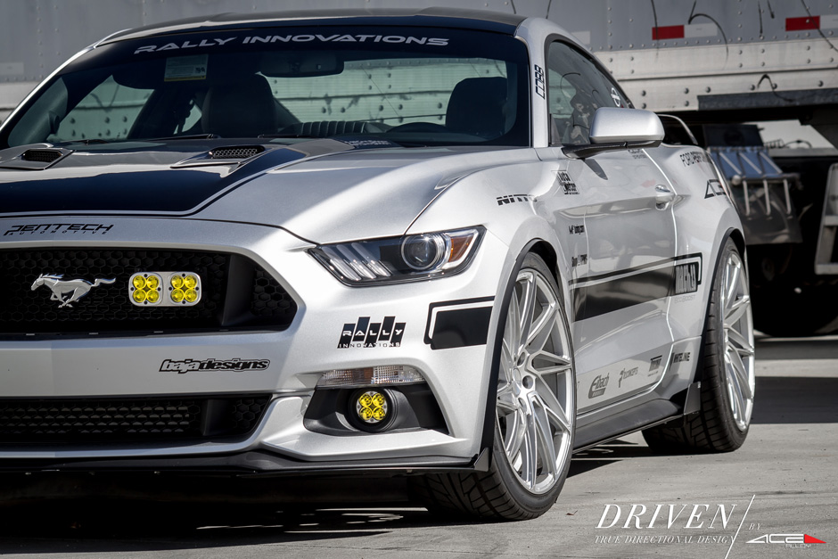 "DRIVEN D716 | 20"" Ford Mustang Silver w/ Machine Face"