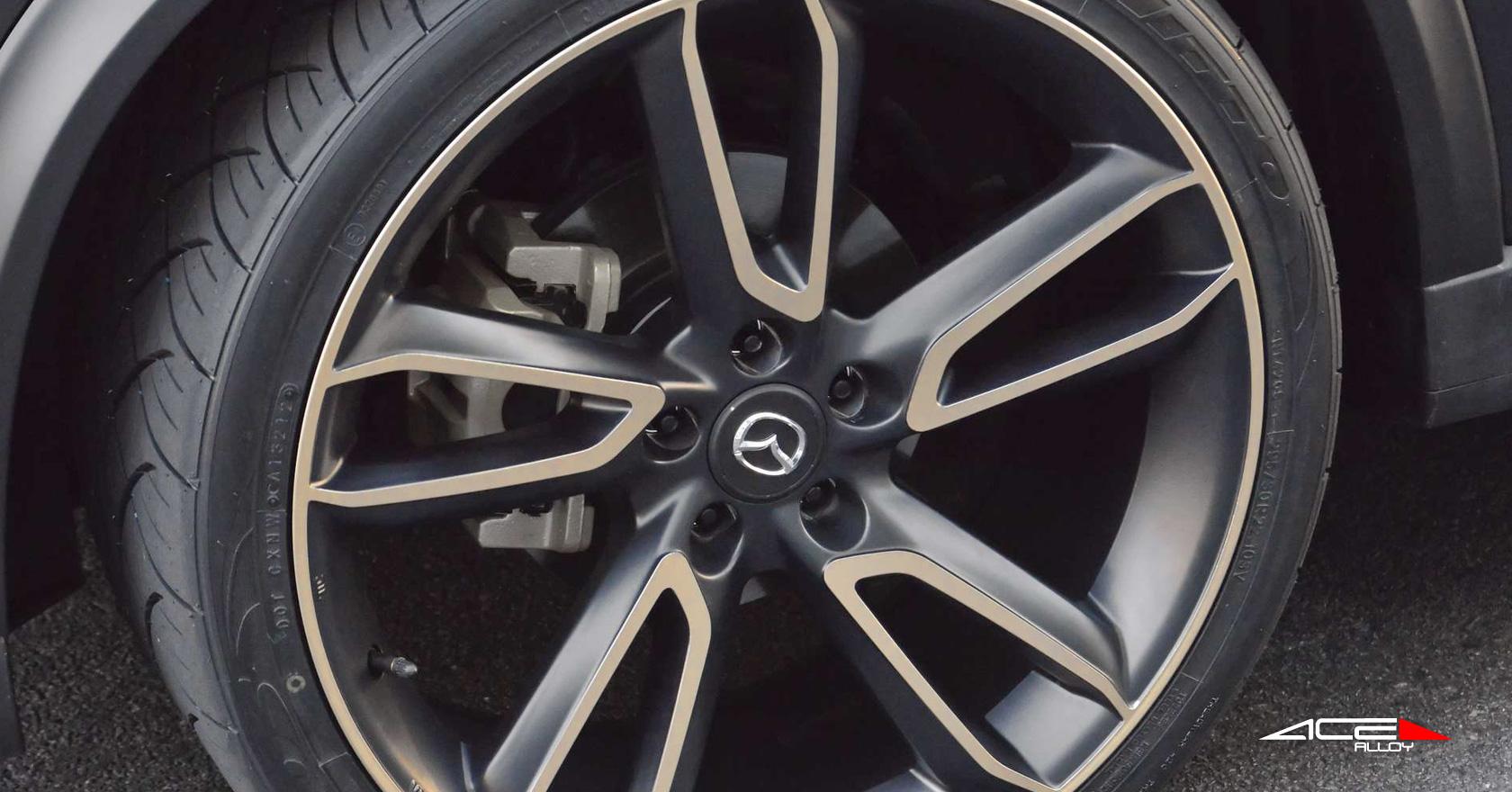 """22"""" wheel Matte Black Scorpio C902 Mazda CX-5 Urban avail. White/  silver"""