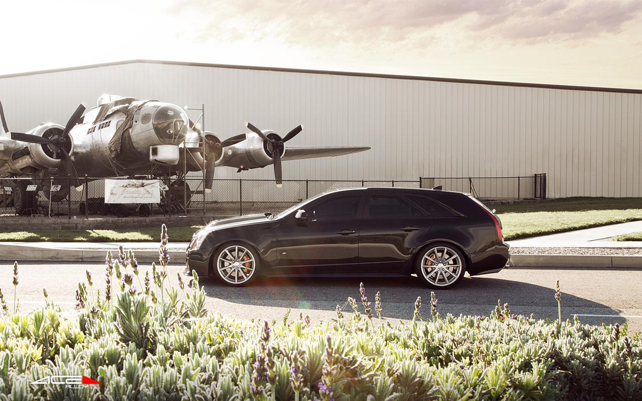 "20"" wheel Matte Silver Convex D704 Cadillac CTS-V Wagon avail. Black"