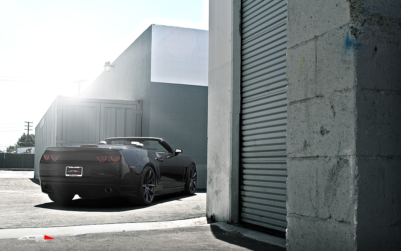 "22"" wheel Matte Black Convex D704 Chevorlet Camaro-SS-Convertible avail. Titanium"