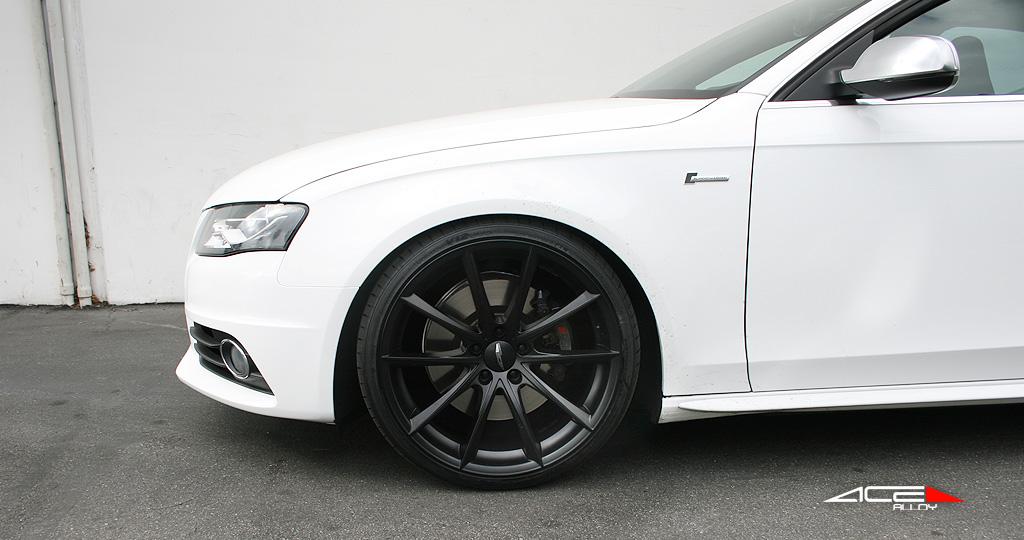 """20"""" wheel Matte Black Convex D704 Audi S4 avail. Silver/ Titanium"""
