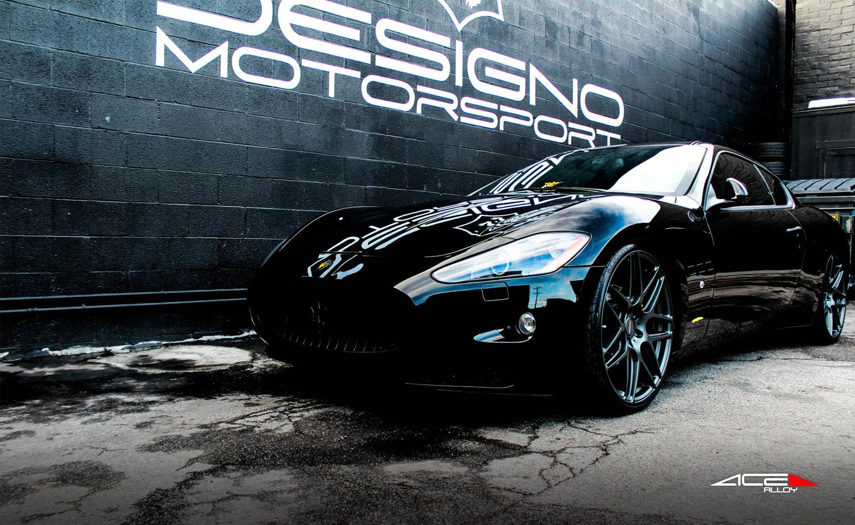 "22"" wheel Matte Mica Grey Mesh-7 D707 Maserati Gran Turismo avail. silver/ Black"