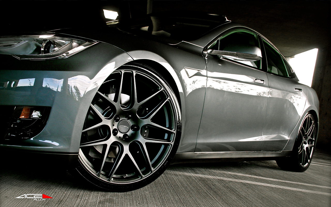 "22"" wheel Mica Grey Mesh7 D707 Telsa Model S avail. Mica Grey"