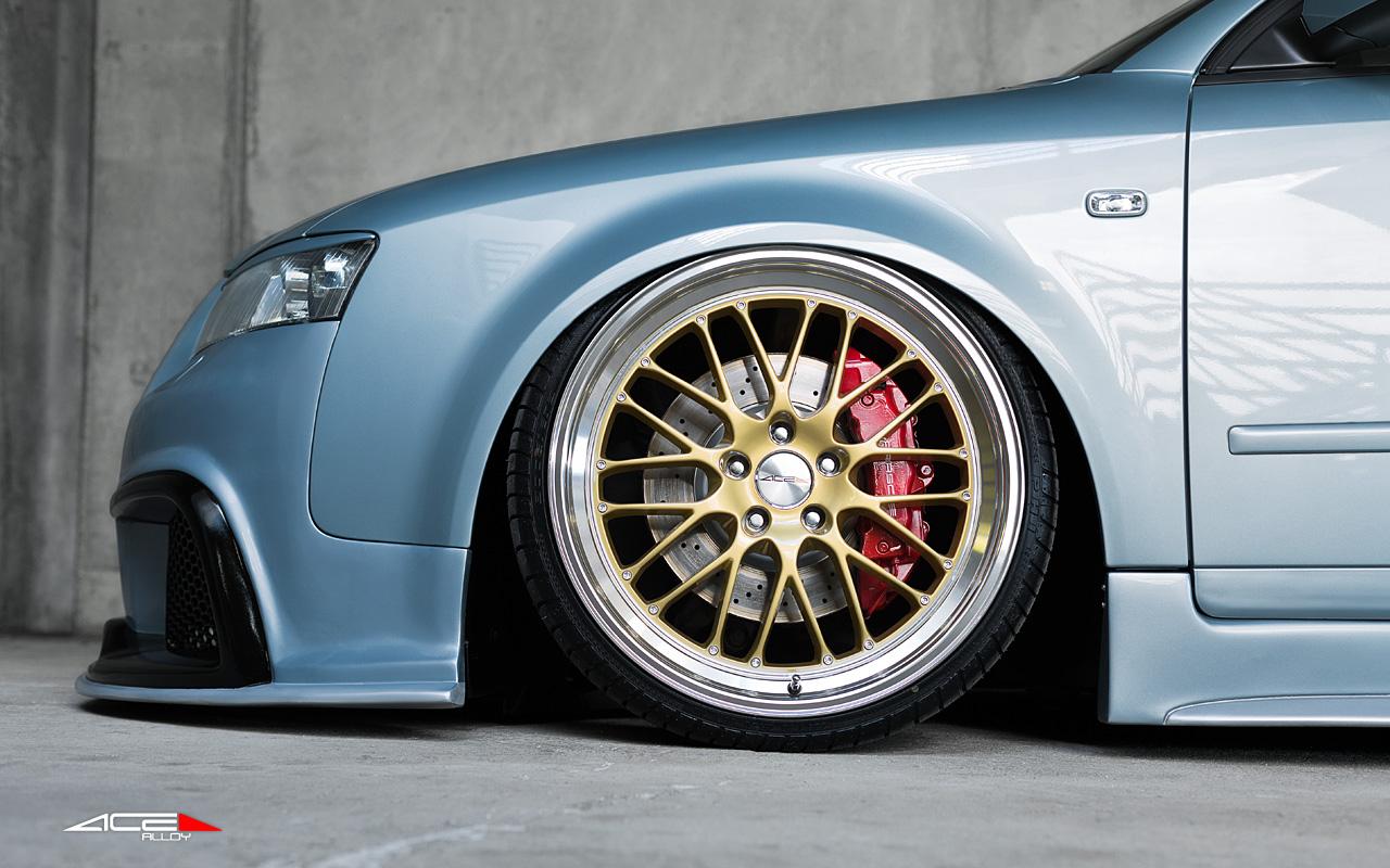"20"" wheel Gold S-LM D715 Audi B6 Wagon avail. Black"