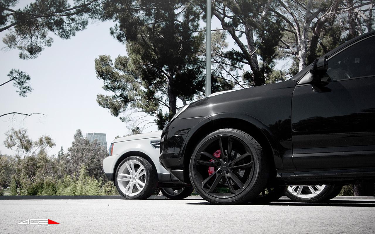 "2018 Land Rover Range Rover Velar on ACE 22"" Scorpio Gloss Black Aftermarket Wheels"