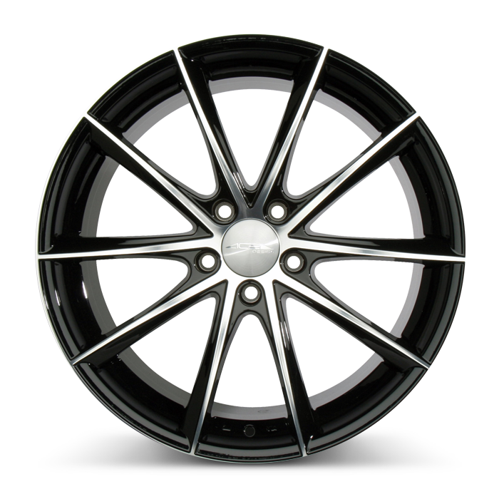 CONVEX D704 Gloss Black with Machined Face wheels & rims