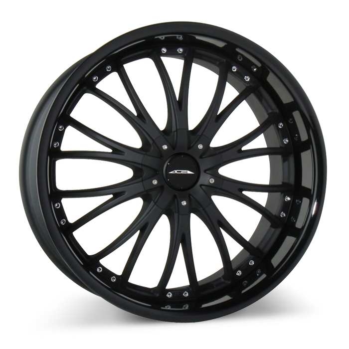 EMINENCE D709 Matte Black with Gloss Black Lip wheels & rims