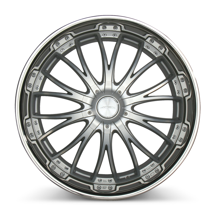 EMINENCE D709 Matte Silver Machined Face w/SS Lip wheels & rims