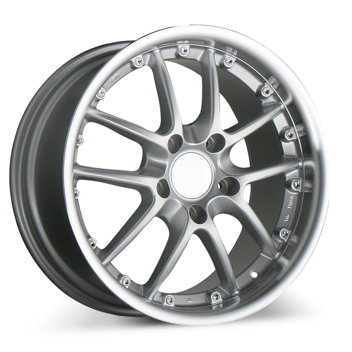 SPYDER for Porsche A130B Silver with Machined Lip wheels & rims