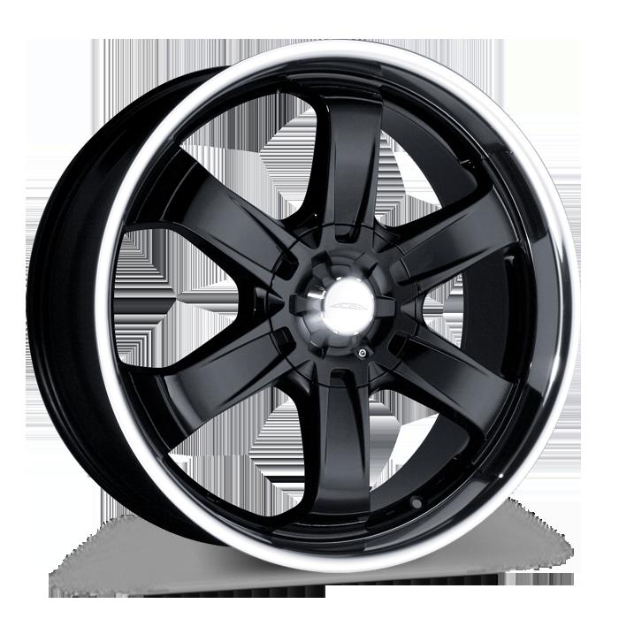 T-1R C001B Black with Machined Lip wheels & rims