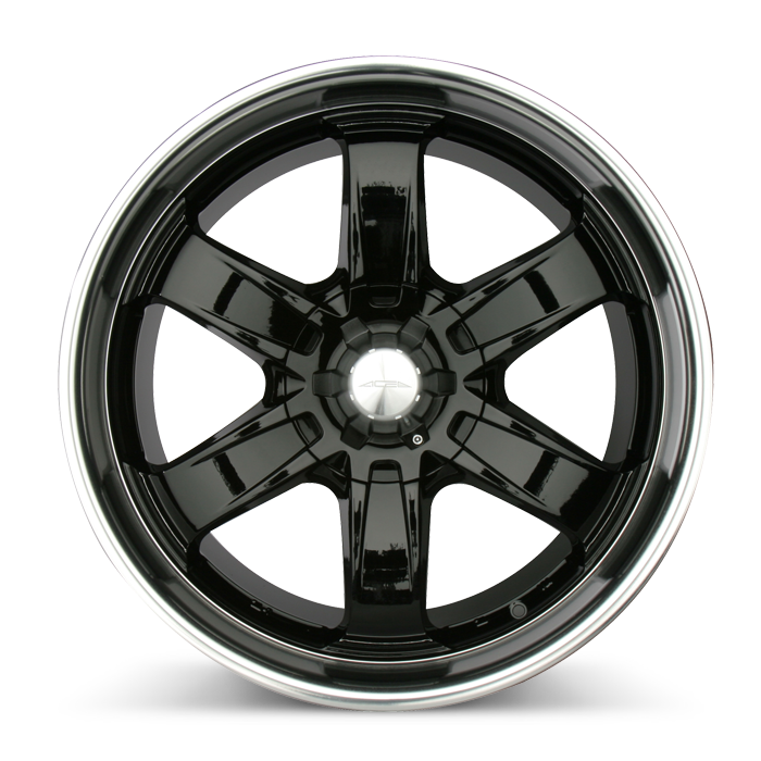 T-1R C001B Black with Machined Lip wheels & rims