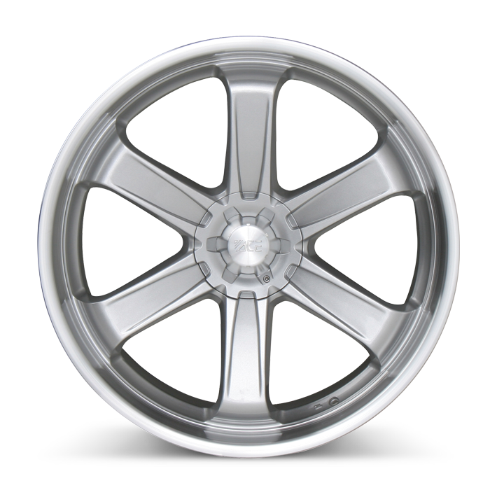 T-1 C001 Metallic Silver with Machined Lip wheels & rims