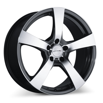 CINCO C873 Gunmetal with Machined Face wheels & rims
