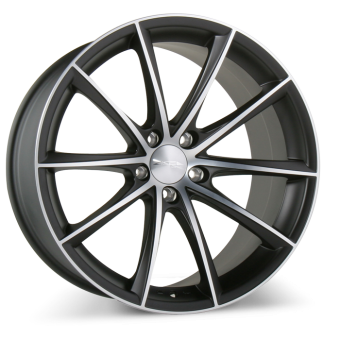 CONVEX D704 Matte Black Machined Face wheels & rims