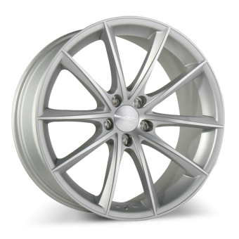 CONVEX D704 Matte Silver with Machined Face wheels & rims