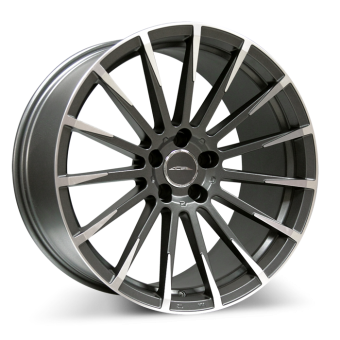 Devotion D718 Matte Mica Gray with Machined Face wheels & rims