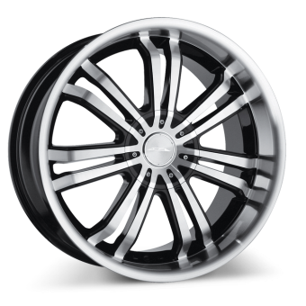 Devine C892 Black with Machined Face/Lip wheels & rims