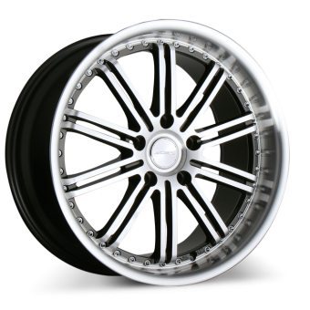 DIMENSION D658 Gunmetal with Machined Face and Lip wheels & rims
