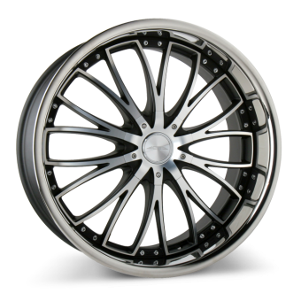 EMINENCE D709 Matte Black Machined Face w/SS Lip wheels & rims