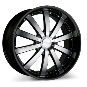 EXECUTIVE C853 Black with Machined Face with Black Lip wheels & rims