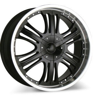 MACK C808B Black with Machined Lip wheels & rims