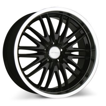 MATRIX D632 Black with Machined Lip wheels & rims