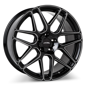 MESH 7 D707 Gloss Black Milled wheels & rims