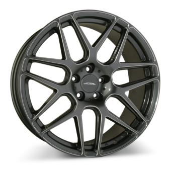 MESH 7 D707 Gloss Mica Gray w/Milled wheels & rims