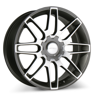 RADIUM D636 Gunmetal with Machined Face wheels & rims