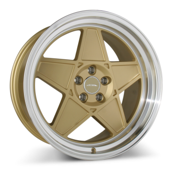 SL-5 C917 Matte Center Gold w/Shining Machine Lip wheels & rims