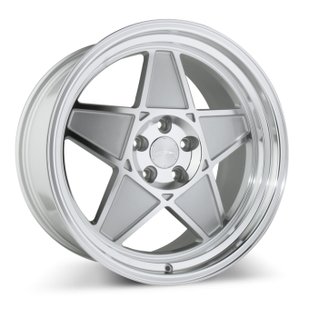 SL-5 C917 Gloss Center Metallic Silver w/Machined Face & Lip wheels & rims