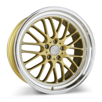 SL-M D715 Gloss Gold with Diamond Lip wheels & rims