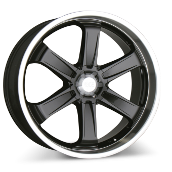 T-1 C001 Black with Machined Lip wheels & rims